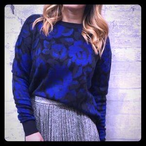 John + Jenn Louisa Dark Floral Sweater